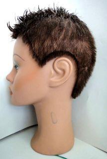 COSMETOLOGY HEAD MANIKIN ethnic dark CLIC ANGEL display HATS/MILLINERY