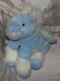 RARE Animal Alley Toys R US Plush 15 Sky Blue Shimmer Pegasus Glitter