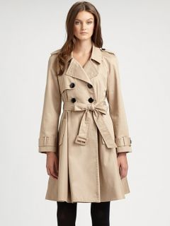 New $678 Kate Spade New York Garance Dore Dianne Trench Coat Flared
