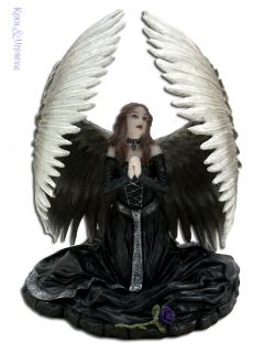 Anne Stokes Statue Prayer for Fallen Kneeling Gothic Angel Figurine