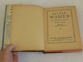 Louisa May Alcott Little Women Illustrated Whitman Publishing C 1935