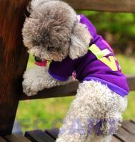 Colorful Purple Love Sweater Dog Pet Clothes Puppy Autumn Coat