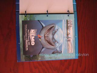 Disney Pixar Souvenir Stamp Album with Full Stamp Sets