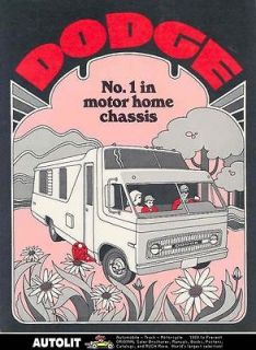 1971 dodge chassis motorhome rv brochure time left $ 11 99 buy it now