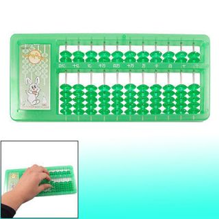 Child Kids 11 Digits Maths Aid Education Japanese Abacus Green