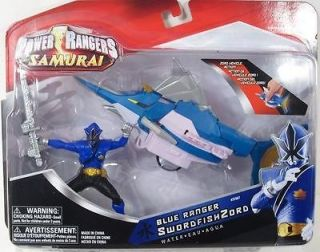 Power Rangers Samurai SwordfishZord Blue Ranger Water NIP Bandai