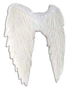 Real Feather White Angel Wings Fallen Angel Fairy Fancy Dress Outfit