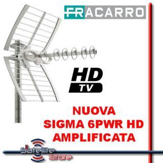 Antenna Digitale Terrestre Fracarro Nuova Sigma 6PWR HD Attiva