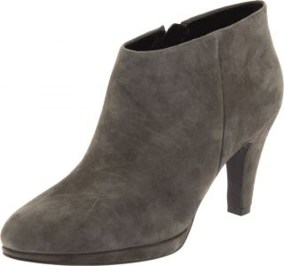 ECCO Womens Junction Suede Leather Zip Ankle Boots Booties [ Ascot ]