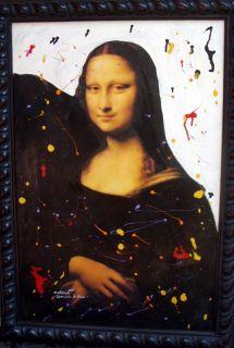 Antonia Signed Listed Art Mona Lisa Artist Painting COA