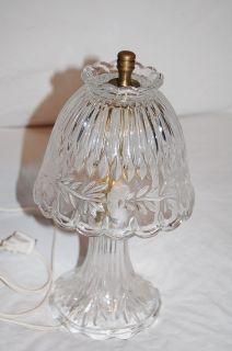 Vintage Princess House Crystal Lamp w Floral Pattern 24 Lead Crystal
