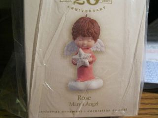 2007 Hallmark Rose Marys Angel 20th Ann Event Exclusiv