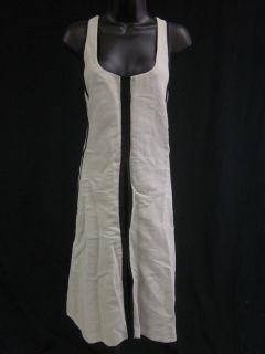ANNETTE GOERTZ Beige Black Sleeveless Seam Detail Dress Sz L est