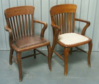 Pair of Matching Solid Wood Chairs 1920S
