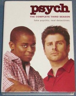 Complete Third Season DVD 2009 4 Disc Set SEALED James Roday Dule Hill