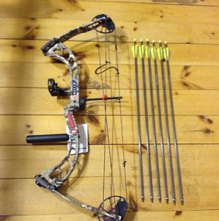 2013 PSE Rally 18 31 11 50# Compound Bow Package Arrows rest sight