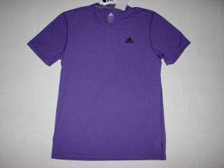 Adidas Mens Climalite Ultimate Training T Shirt Purple NWT X31518