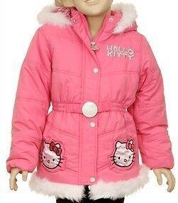 Hello Kitty Sanrio Girls Toddler Winter Hooded Pink Jacket / Coat 2T