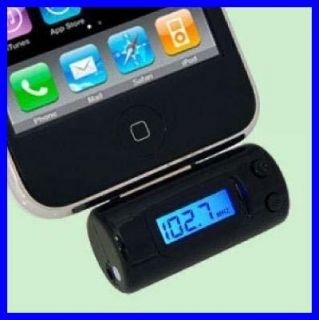 FM Transmitter+Car Charger for Apple iPod Touch iPhone 3G 3GS 4G 4S