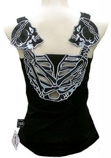 ROCKABILLY PUNK ROCK BABY Dark Gothic Honeymoon Skull Tattoo TANK TOP