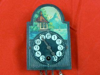 Antique Vintage Miniature German Windup Pendulum Clock
