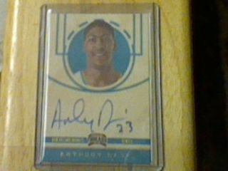 11 12 Anthony Davis Kidd Gilchrist Panini Threads wood 6 card UK auto