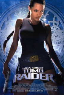Tomb Raider Lara Croft Movie Poster 2 Sided Original 27x40 Angelina