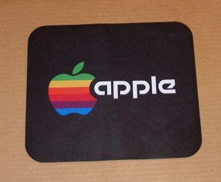 Vintage Apple Computer Rainbow Apple Logo Mouse Pad S
