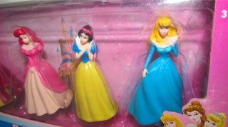 Disney Figure Princess Belle Arielle Snow White Cinderella 4 Pack