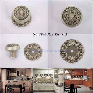 Antique Pewter Furniture Door Drawer Pulls Kitchen Cabinet Handle and