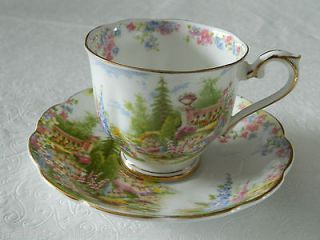 Royal Albert Crown China Kentish Rockery TEACUP TEA CUP AND SAUCER