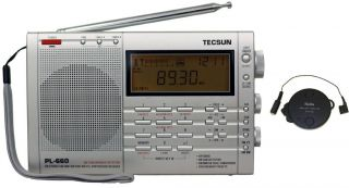 Tecsun PL660 AM FM Shortwave Air SSB Synchronous Radio + T1 Antenna