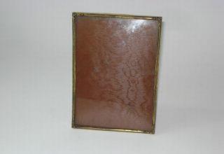 antique art nouveau metal photo frame w glass
