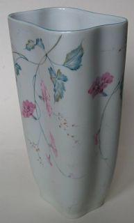 Art Deco Stockmayer Pink Chinese Magnolia Flowers Vine Porcelain Vase