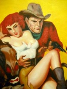 Spicy Western Pulp Cover Recreation Roy Rogers The Lone Ranger John