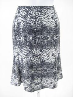 New TULEH Black Snake Printed Silk Straight Skirt Sz 6