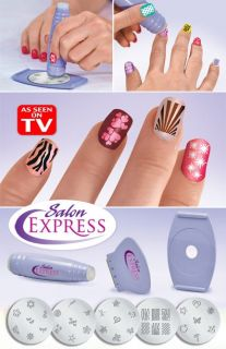 New Salon Express Nail Art Stamping Kit as Seen on TV