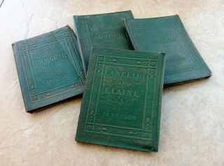 ANTIQUE 1920s LITTLE LEATHER LIBRARY TENNYSON BOOK LOT   KING ARTHUR