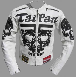 Neu Motorrad Lederjacke Skull Leder Jacke Motorradjacke 3XL 4X Biker