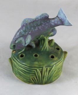 Weller Ardsley Fish Flower Frog for Console Bowl 1920s