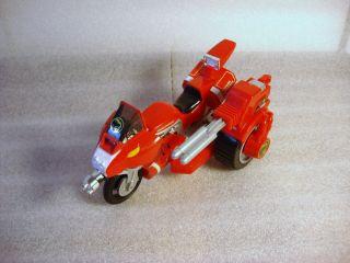 MMPR Mighty Morphin Power Rangers Red Ranger Battle Bike + Side Car