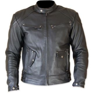 NEW choper vintage Harley Davidson style leather motorcycle jacket en