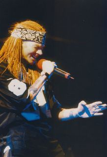 AXL Rose Mini Poster Magazine Pin Up 2 French RARE Guns N Roses