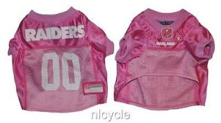Oakland RAIDERS PINK MESH Pet Dog JERSEY with NFL PATCH XS S M L