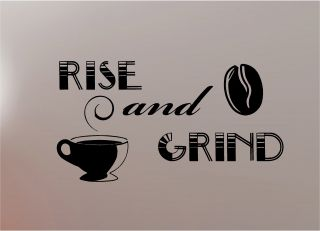 Grind Coffee Quote Wall Art Sticker Vinyl Kitchen