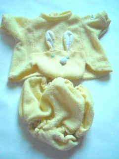Baby Doll Clothes Preemie Bunny Suit 16 18 Doll Cabbage Patch Kids CPK