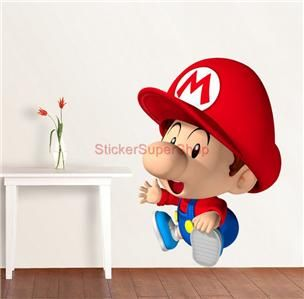 Huge Baby Super Mario Bros Decal Removable Wall Sticker Decor Mural