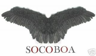 Black Feather Angel Wings L Costume Adults Prop Dark Gothic Halloween