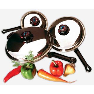 Piece Waterless Skillet Cookware Set w/ Cover, Precise Heat