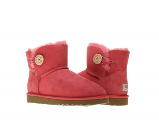 UGG Australia Mini Bailey Button Tea Rose Womens Winter Boots 3352